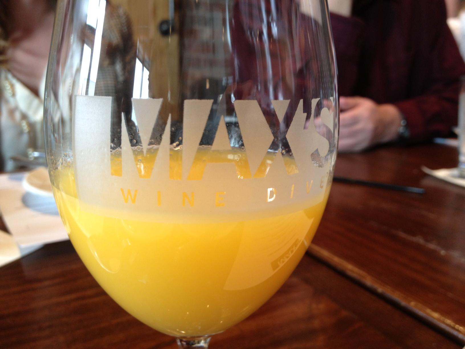 Max's Wine Dive Freshly Squeezed Orange Juice