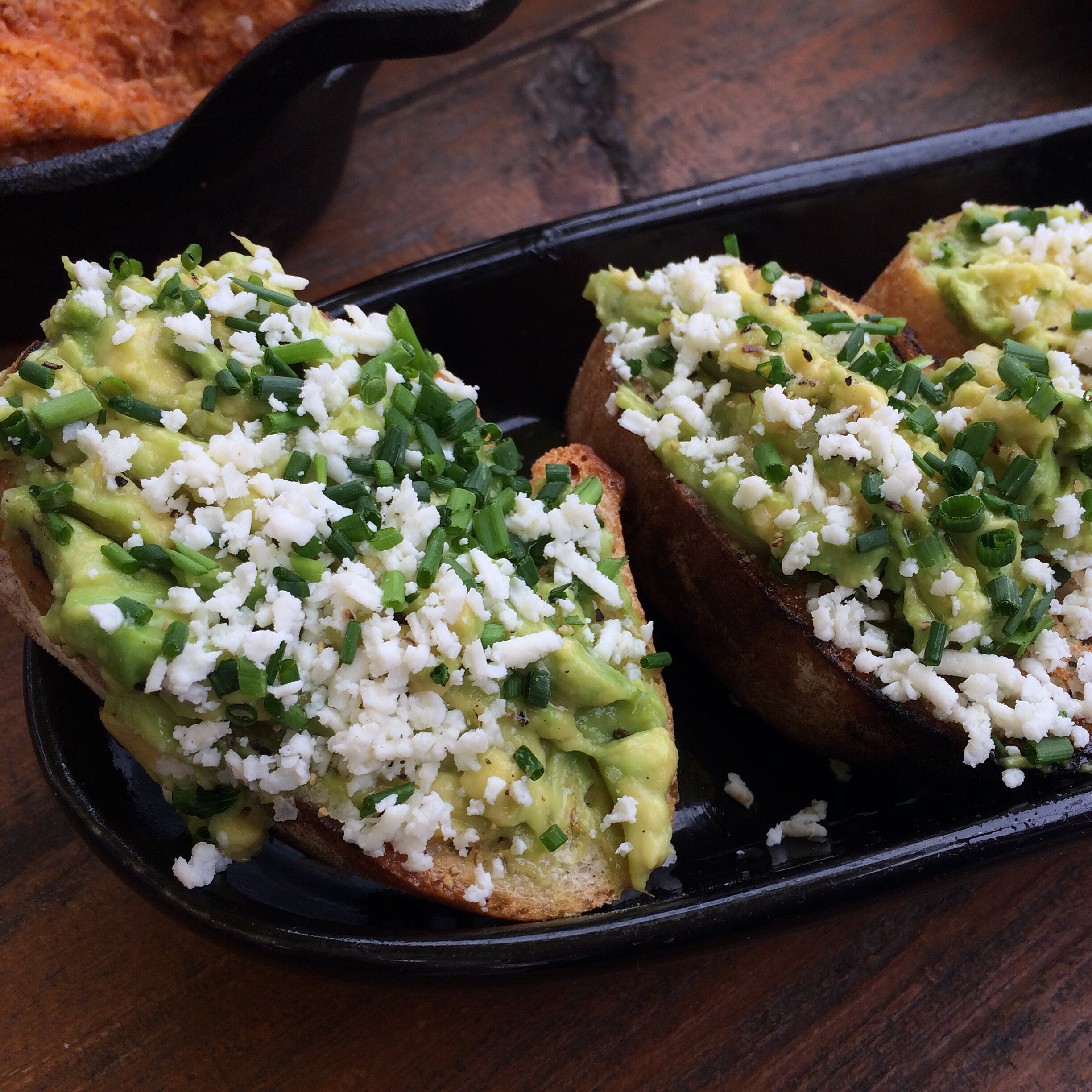 Avocado Toasts at the Jam and Toast brunch at The Rustic