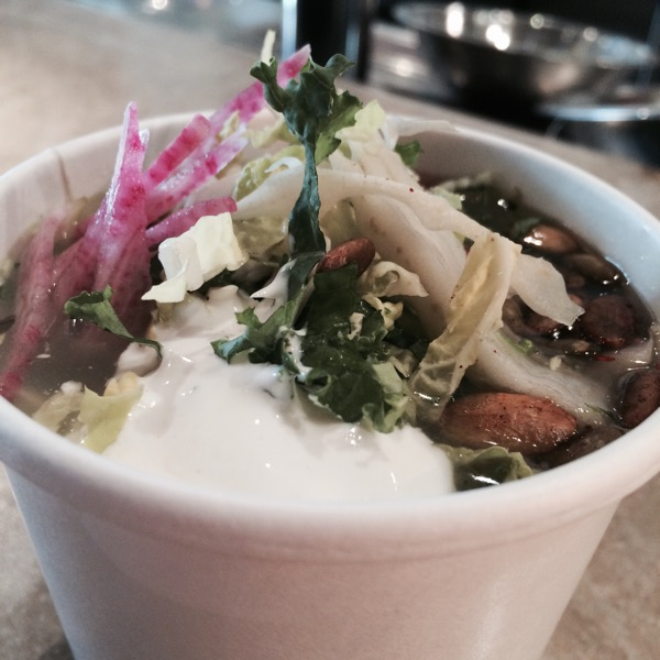 Soups rotate. This time: chicken pozole