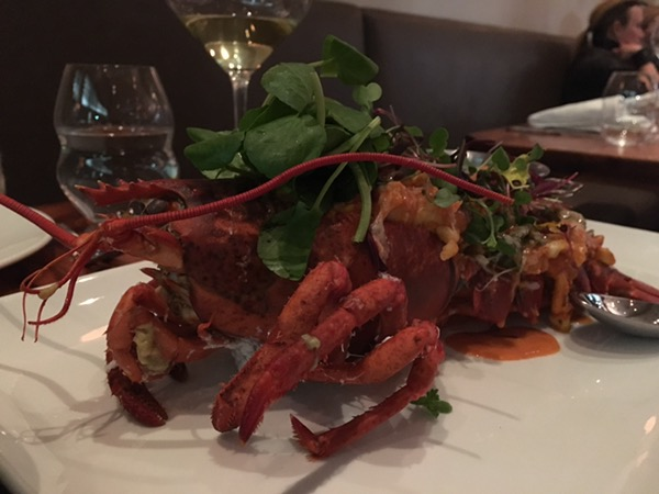 Lobster thermidor, classic made modern at Madrina, photo by foodbitch