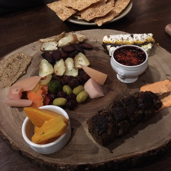 The vegetarian charcuterie board.