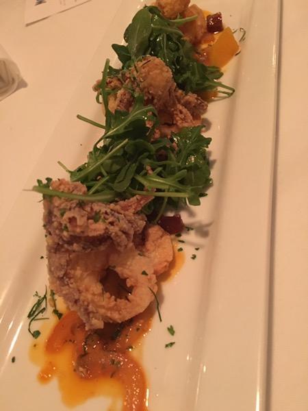 Fancy pants calamari at Montlake Cut. Photo by foodbitch