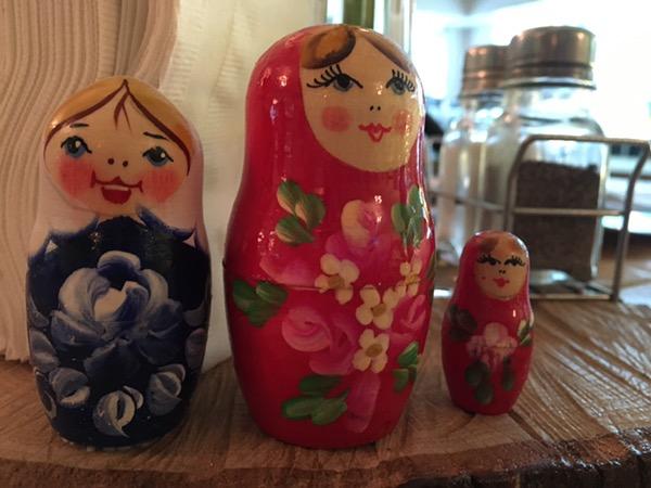 Russian nesting dolls  at Russian Banya & Restaurant Volga in Carrollton. Photo by foodbitch