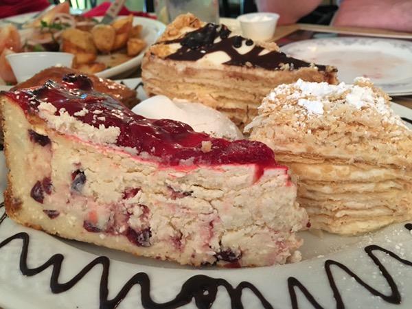 Desserts at Russian Banya & Restaurant Volga in Carrollton. Photo by foodbitch