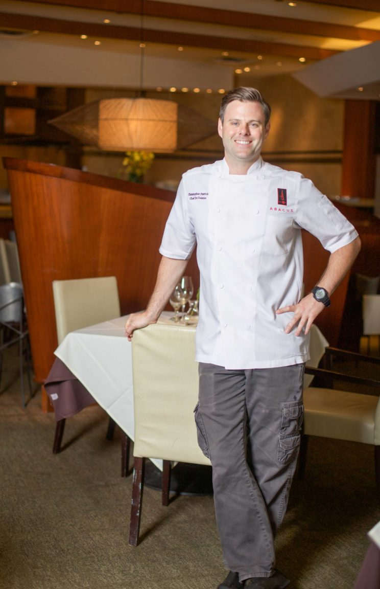 Image of Chef Chris Patrick via abacus-restaurant.com
