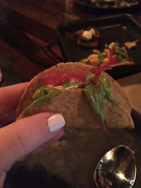 Tiniest taco -- but with big delicious flavor.
