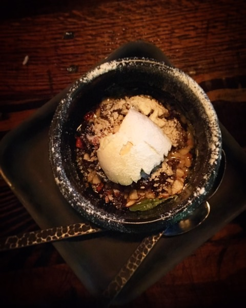 """Date dessert"" was a bit smoky. After all that smoke I was ready for something else."