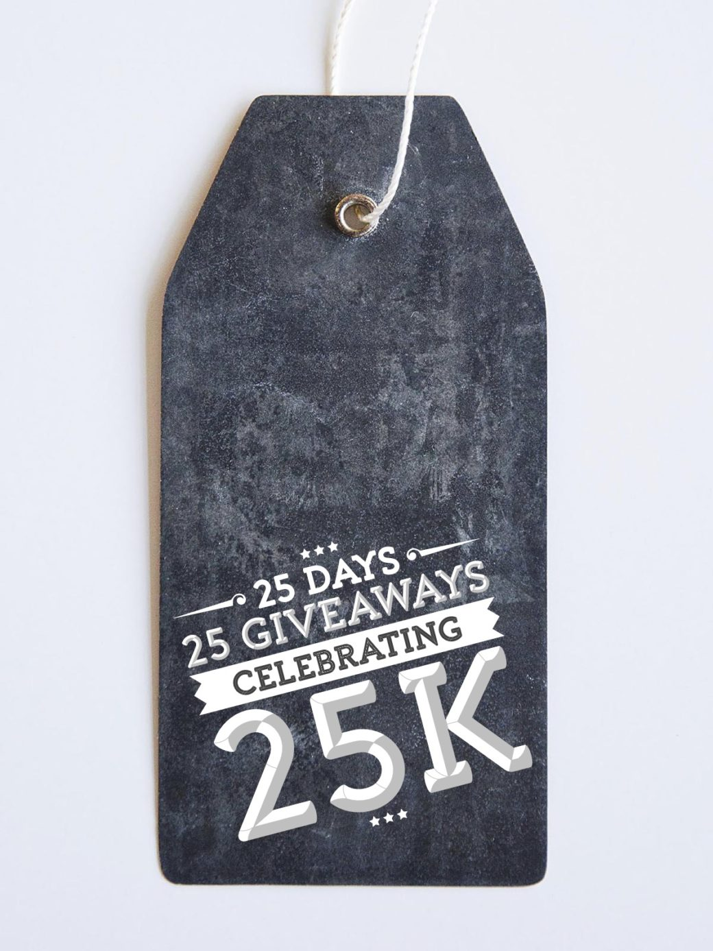 celebrating 25k with 25 giveaways