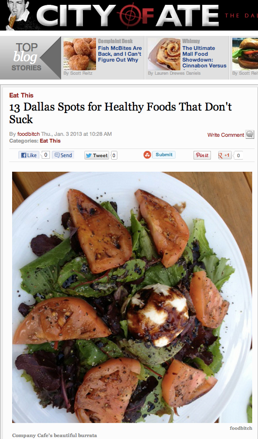Via City of Ate: 13 Dallas Spots for Healthy Foods That Don't Suck
