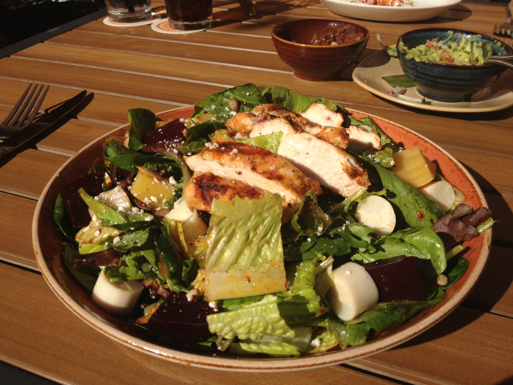 Meso Maya's beet salad with grilled chicken