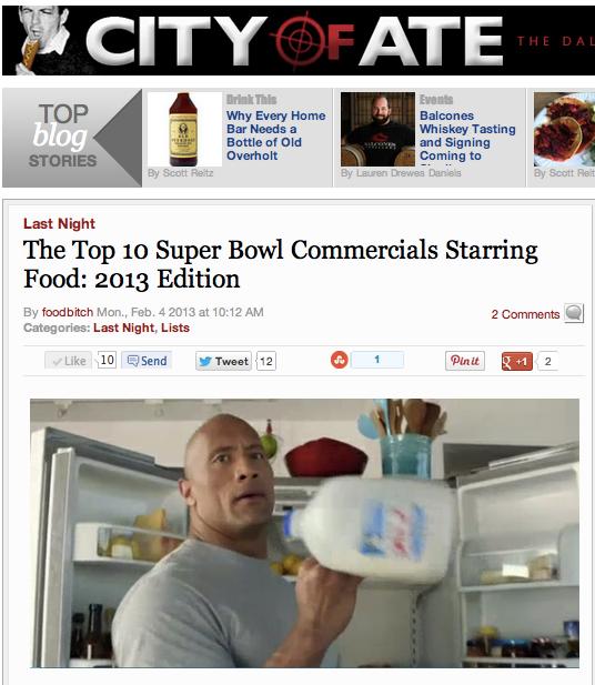 City of Ate Crosspost Top 10 food Super Bowl spots