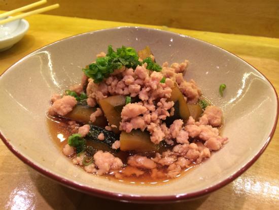 sweet pumpkin & chicken appetizer at Sushi Bayashi at Trinity Groves