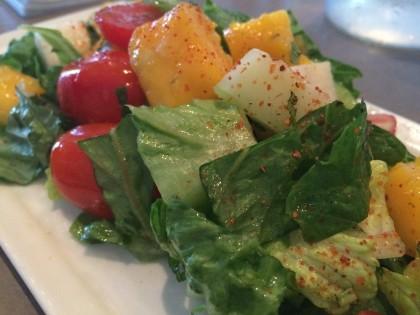 Jicama mango bib salad at Dive Coastal Cuisine