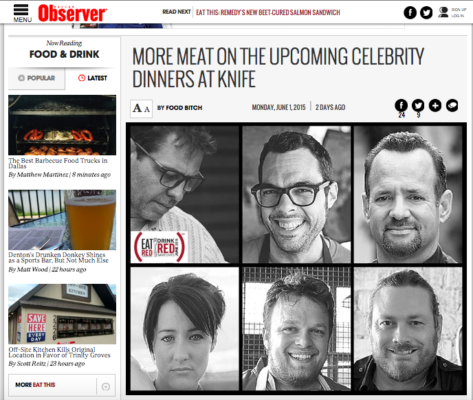 post up on City of Ate featuring all five celebrity chefs for (RED)