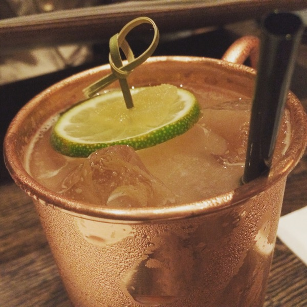House mule with Bulleit at Rapscallion, photo by foodbitch