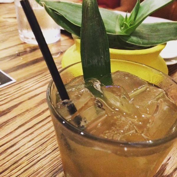 Horseradish-infused pineapple margarita at el Bolero featuring Lunazul Reposado Tequila, photo by foodbitch