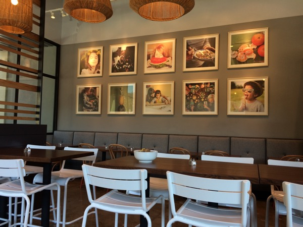 Light and bright seating inside Unleavened