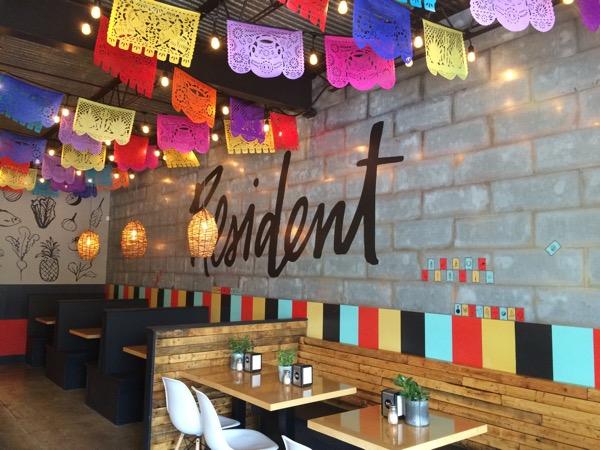 Resident Taqueria's colorful decor