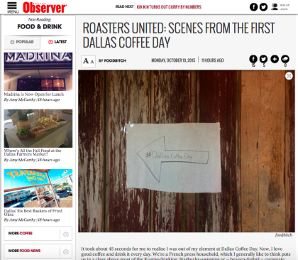 The First Annual Dallas Coffee Day
