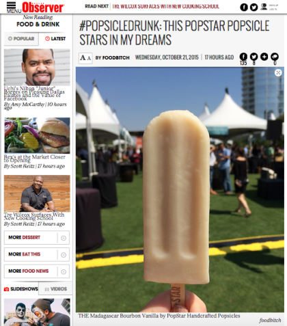 screen grab from The Dallas Observer's Food & Drink blog
