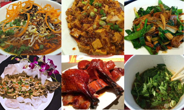 chinese food collage from all over Dallas