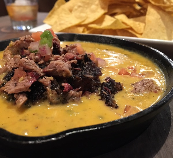 Brisket queso at Lakewood Smokehouse. Photo by foodbitch