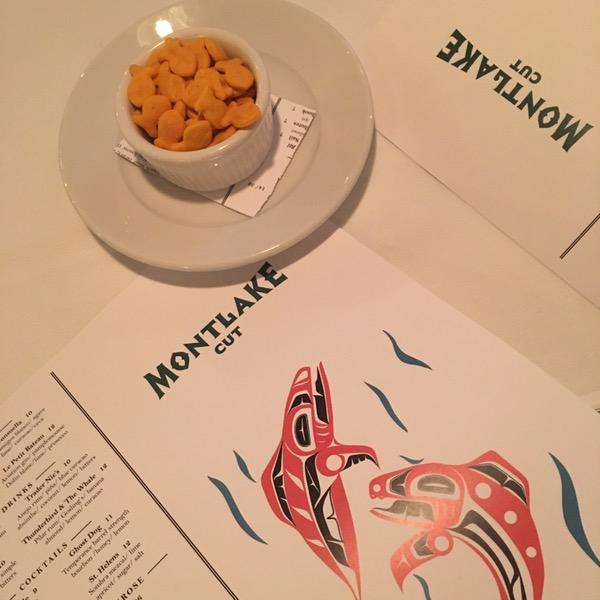 Menus and Goldfish at Montlake Cut in Dallas