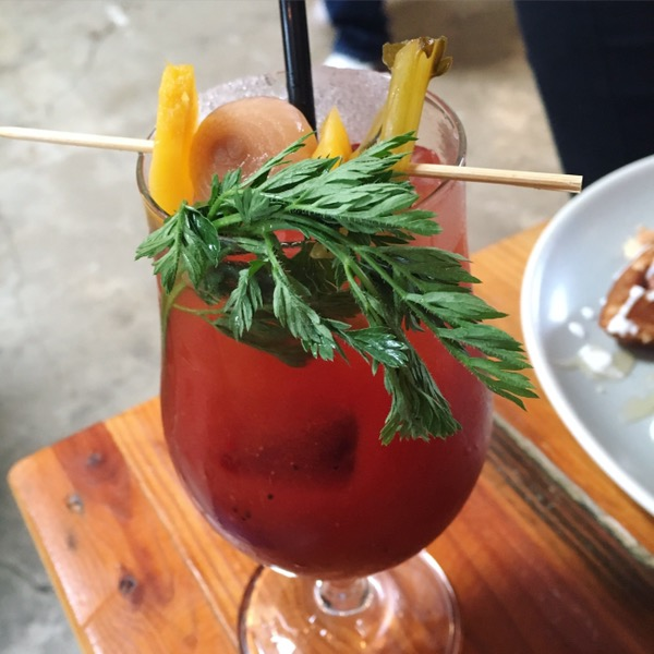 This bloody Mary is all kinds of good and horseradishy. Photo by foodbitch.